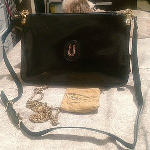 NWT Vintage Caggiano Black Leather Bag